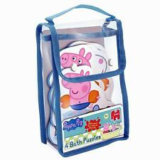 PEPPA PIG CHILDRENS JIGSAW BATH TOYS - SET OF 4 x FOAM PUZZLES 17438