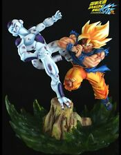 official DBZ-Dragon Ball Z VKN Super game SSJ Goku VS Frieza Resin statue Figure