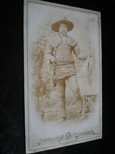 Cdv photograph man in rope string suit by Benzinger Schrobenhausen Germany 1880s