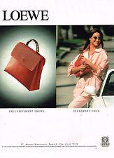 PUBLICITE ADVERTISING 064  1995  LOEWE   maroquinerie sacs de Luxe