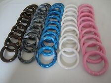 """Lot of 50 Assorted 3"""" Round Plastic Macrame Marbella Rings Craft Supplies DIY"""