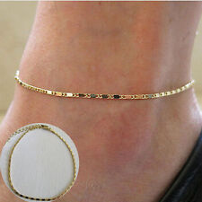 Simple Gold Chain Women Anklet Ankle Bracelet Barefoot Sandal Beach Foot Jewelry