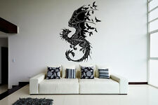 Wall Room Decor Art Vinyl Sticker Mural Decal Tribal Monster Dragon Draco VY266