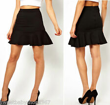 PARTY Clubbing Work Mermaid Fish Tail Sheath Slim Mini Skirt Dress BLACK Medium