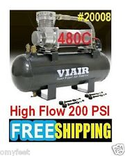 VIAIR High Flow 200PSI 12v Volt Air Compressor 20008 480C HD 2 Gallon Air Tank