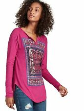 Lucky Brand - Womens M - NWT - Pink Deco Matchbook Long Sleeve Graphic Tee