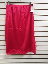 "Ventura Plus Size Nylon Half Slip 28"" Long - 1X RED  #4743 - NWT"