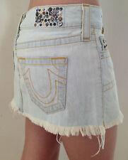 AUTHENTIC True Religion Skirt SUMMER HIGH THIGH Denim Fisher Size 25 NEW