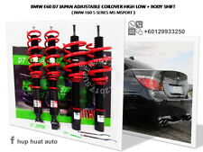 BMW E60 5 Series M5 Msport D7 JAPAN Adjustable Coilover High Low + Body Shift