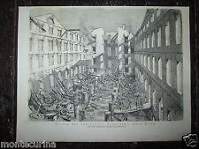 1875 COTONIFICIO FUMAGALLI ROVINE MONZA BRIANZA COTONE FABBRICA STAMPA EPOCA n5