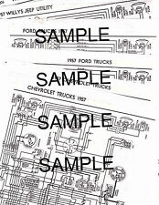 1957 WILLYS JEEP UTILITY 4 & 6 CYLINDER 57 WIRING GUIDE DIAGRAM CHART NDSBK