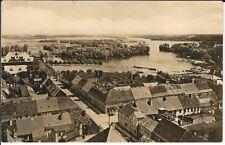 """Ansichtskarte Templin Uckermark """"Blick über die Stadt mit See"""" - schwarz/weiß"""