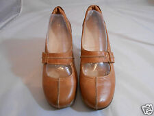 Naturalizer N5 Comfort Mosa Brown Leather Upper Mary Jane Shoes Womens Size 9 M