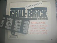 ORGANIC HVY. DUTY GRILL BRICKS 12 CS.CLEANS GRIDDLE GRILL BBQ WITHOUT CHEMICALS