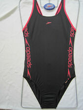 SPEEDO SWIMWEAR FEMALE ENDURANCE BLACK/PINK MEDIUM LEG SUPERIORITY.WOMEN UK 34""