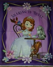 "Springs creative, ""Sofia the First Panel"","" sharing is royal"" 100% COTTON fabric"