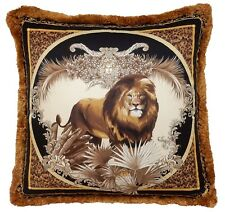"Versace Lion Medusa Pillow - 19.7"" -"