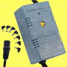 Multi-Voltage 5V-6V-7.5V-9V-12V-13.5V-15V Regulated AC/DC Switching Power Supply