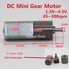 DC Mini Gear Motor Full Metal Planetary Slow Speed for Smart Car Robot 1.5v~4.5v