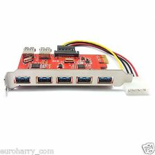 7 (5+2) Ports USB3.0 PCI-E express Karte Controller 15pin Sata Connector Kabel