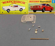 MATCHBOX 8 Mustang Replacement Window Unit + Drill Rivet & Screws RW / Superfast