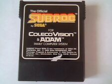 Subroc by Sega Coleco Vision and Adam Game Cartridge