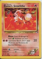 Pokemon Gym Heroes Common Card #62/132 Blaines Growlithe