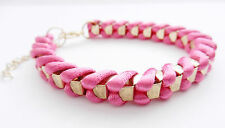 Pink Silk thread Platted Braclet party daily fashion
