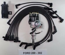 FORD 260-289-302 BLACK Small HEI Distributor,BLACK 40k COIL & SPARK PLUG WIRES