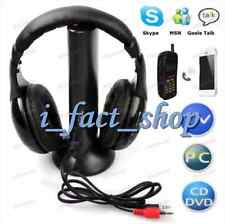 1X Cool Black Wireless Headset Monitoring Headphone Over-Ear Radio TV PC UK