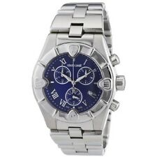 ROBERTO CAVALLI CHRONOGRAPH ANALOG DATE BLUE DIAL MEN'S WATCH R7253616035 NEW