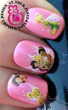 NAIL ART WATER TRANSFERS/STICKERS/DECALS TINKERBELL/ROSETTA FAIRIES/FAIRY #469