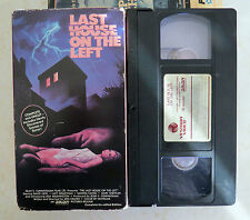 VHS: Last House on the Left: Wes Craven: Uncut horror Vestron Video