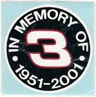 Dale Earnhardt Sr. In Memory Decal #3