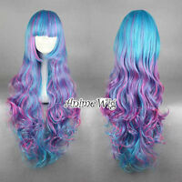 Lolita 70cm Long Curly Style Multi-Colors Women Anime Cosplay Wigs+Free Wig Cap