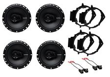 NEW S/4 ROCKFORD FOSGATE CAR TRUCK FRONT & REAR DOOR SPEAKERS W/ INSTALL KITS