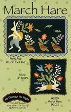 MARCH HARE PENNY RUG & PILLOW QUILTING PATTERN, From All Through The Night NEW