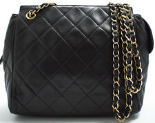 CHANEL Lamb Tasche Schultertasche Must-Have Chain Shoulder Bag Vintage Schwarz