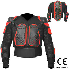 Motocross Motorbike Body Armour Motorcycle Protection Guard Jacket Black/Red, L