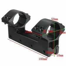 High Profile 25.4mm Torch Rifle Scope Dual/Double Ring Mount 11mm Dovetail Rail