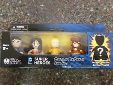 DC Superheroes Mini Mezitz 5 pack Superman Wonder Woman w Mystery Batman Figure