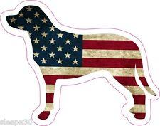 Labrador Retriever American Flag Vinyl Window Decal Sticker