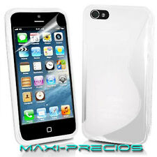 FUNDA IPHONE 5S 5 GEL BLANCA BLANCO SILICONA CARCASA TPU WHITE CASE CASO HOUSSE