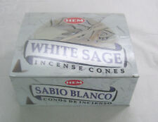 Hem White Sage Incense Cones, Bulk Lot 12 Pack of 10 Cones, 120 Total!