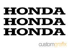 3 x Honda Motorbike Tank Belly Pan Swing Arm Sticker Decals, Any Colour