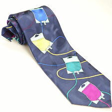 """""""GO WITH THE FLOW"""" 56L Avery Medical Fashions Novelty IV Bags Silk Mens Neck Tie"""