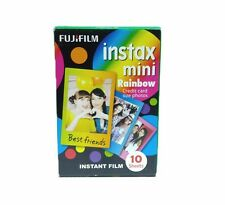 Fujifilm Fuji Instax Mini Rainbow 10 photo Film 7s 8 25 50s 70 90 Polaroid 300