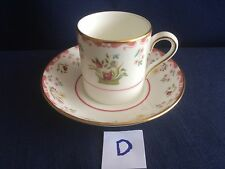 Wedgwood Bianca small coffee can /cup & saucer ( tiny rim gilt flaw on saucer) D