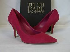 Truth Or Dare By Madonna Size 7.5 M Omarah Fuchsia Suede Heels New Womens Shoes