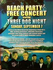 THREE DOG NIGHT BEACH PARTY AND FREE CONCERT IN ATLANTIC CITY NJ POSTER 9/7/2003